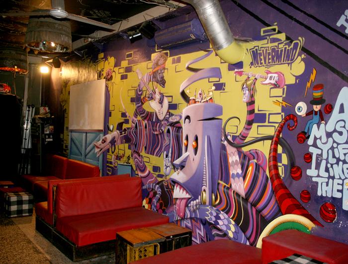 Mural deco - Decoracion de bares de copas ...